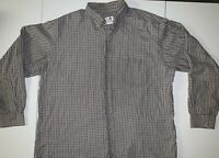 Viyella Button Down Shirt Mens Cotton/Wool Plaid XL
