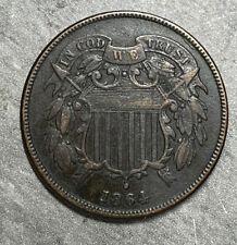 1864  -  TWO CENT PIECE  -   AU   (2065)