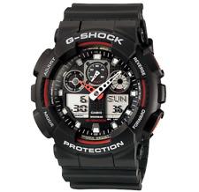 Casio G Shock GA 100 Black & Red Sports Watch Waterproof 5081 Gift Unisex