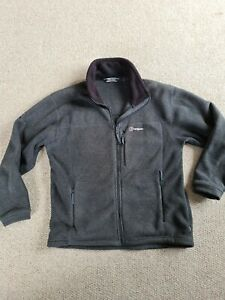 Mens Berghaus Grey Size M Fleece Polartec Thermal Pro Full Zip Long Sleeve