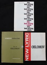 3 1960s Theatre Programmes featuring Spike Milligan.Bed Sitting Room, Oblomov +1