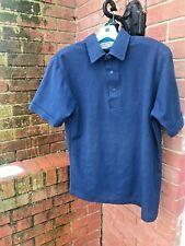 Classic Men's Solid Navy Pique Polo/Golf Shirt-Navy
