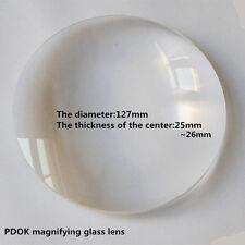 Φ127mm 5X Optische Brennweite Optik Doppelte konvexe Glaslinse Lupe