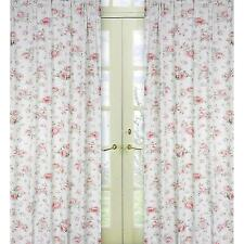 Sweet Jojo Designs Riley's Roses Window Panels - Set of 2  Cotton White/ Roses