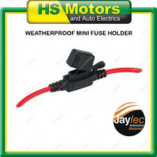 Fuse Holder Weatherproof In Line Mini Fuse Blade up to 30 amp 6mm cable SINGLE