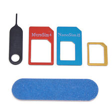 5 in 1 Nano SIM Card to Micro Standard Adapter Converter Set Kit for iPhone