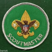BOY SCOUT ADULT POSITION PATCH - SCOUTMASTER - PLASTIC BACK