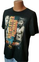 District Mayweather Pacquiao Mens Boxing TShirt Black Size XL