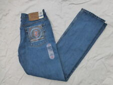 NOS VINTAGE JUNIORS 505 SLIM FIT STRAIGHT LEG JEANS MADE IN USA SIZE 15x34 (15L)