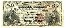 1882, $20 Fr 494 Large Size National Fr 494, Charter # 733