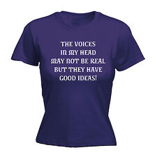 Voices In My Head Good Ideas WOMENS T-SHIRT mothers day crazy weird funny gift