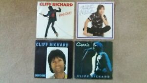 """Cliff Richard - 4 x 7"""" Singles - Daddy's Home, Little In Love, Hot Shot, Carrie"""
