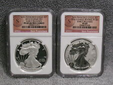 2012-S SAN FRANCISCO EAGLES-EARLY RELEASE SILVER PROOF SET- NGC PF69 RP UCAM