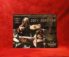 Slipknot *Joey Jordison* Remo Drumheads Promo Poster