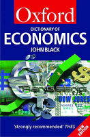 A Dictionary of Economics (Oxford Paperback Reference), Black, John, Used; Accep