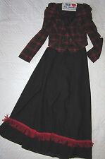 1900s VICTORIAN Edwardian Titanic Music Man plaid jacket/black skirt costume 6