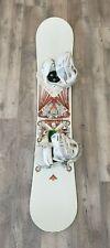 Burton White Collection 157cm Snowboard w/ Burton Custom Bindings Pre-owned