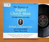 CLP 3554 Treasury Of English Church Music Vol. 4 1760-1900 HMV Mono LP + insert