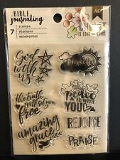 American Crafts BIBLE JOURNALING CLEAR  God with Us Praise Faith Religious NEW