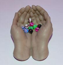 Billes piercing UV Néon 10 Billes 1.6x6 mm,  piercings langue Nombril cb291