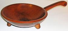 "Beautiful Vintage Munising 8.5"" Hardwood Footed Bowl with 6"" Handle"