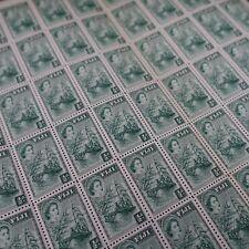 FEUILLE SHEET FIDJI FIJI N°137 x60 BATEAU A VOILE 1954