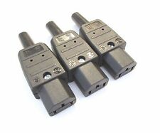 Silver Plated IEC Connector C13 10a  Martin Kaiser sold as 3 mains power cables