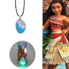 UK Glowing Music Moana Princess Vaiana Necklace Cosplay Props Pendant Jewelry