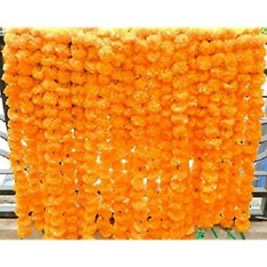 Wholesale Indian Deco Vine Wall Hanging Yellow Marigold Garland Baby Shower Lots