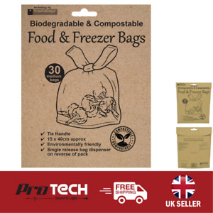 Toastabag Eco Food & Freezer Bags 30 Pack Fully Biodegradable & Compostable