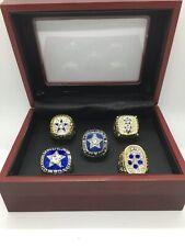 5 Pcs Dallas Cowboys Roger Staubach Super Bowl Championship Ring Set with Box