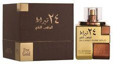 24 Carat Pure Gold By Lattafa Perfumes 100 ml Oriental Vanilla Saffron Oud New