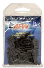 New listing Afw #8 Black Leader Sleeves .116 in (2.94mm) New! #J08B-B 100 Pack Single Barrel