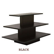 3 Tier Rectangular Black Display Table Rack Stand - NEW YORK PICKUP ONLY