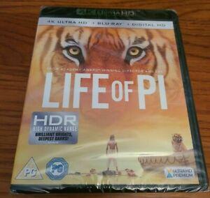 Life Of Pi (4K Ultra HD + Blu-ray) Rafe Spall, Gérard Depardieu New / Sealed