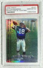 1998 Finest Refractor Peyton Manning RC #121 PSA 10 GEM MINT RARE - POP. 15