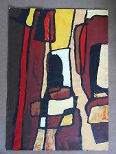 Tableau Cubiste acrylique sur papier 90 cm x 65cm - PETRA