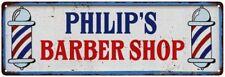 PHILIP'S Barber Shop Hair Salon Personalized Metal Sign Retro 106180031379