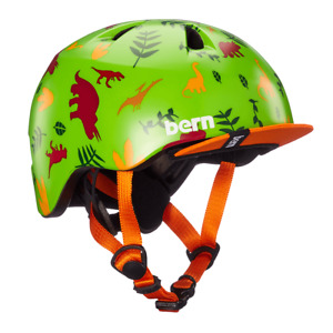 Bern Tigre Kinder Helm Fahrradhelm Skate Helm Kids Dino Grün XXS-S (47-51cm)