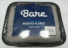 """Bare Home 100% Cotton Weighted Blanket - 10 lbs - 40"""" x 50"""" - Grey/Silver"""
