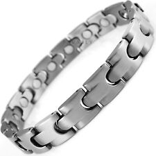 df9e25ca1f649 Men's Stainless Steel Magnetic Therapy Bracelets for sale | eBay