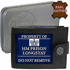 Klassek HM PRISON SERVICE mens Real Leather Wallet Funny Jail Joke Humorous Gift