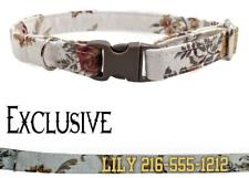 """Personalized Cat Collar Safety Break Away Adjustable Cotton Cats Kittens 7.5-10"""""""