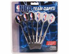 Set of 6 NBA San Antonio Spurs Steel Tip Darts & Flights with NBA Logo