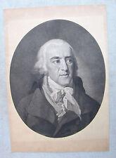 W. Arndt Antique Engraving After Tischbein Portrait of Friedrich von Matthisson