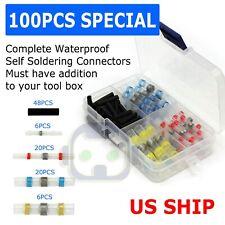 100PCS Solder Sleeve Heat Shrink Butt Waterproof AWG 10-26 Wire Splice Connector