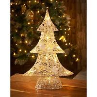 New Christmas Decoration Light Up Rattan Glitter Tree 10 LED lights