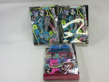 3 Monster High Voltageous Hair Frankie Stein Fright Roast Coffee Playset New Lot