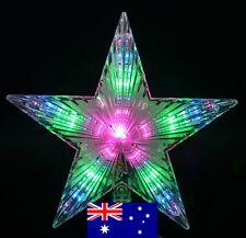 31 LED Multi-Effect 24CM Diameter Star Christmas Tree Top Star