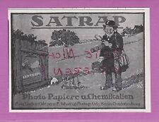 BERLIN, Werbung 1916, Chem. Fabrik auf Akt. vorm. E. Schering Foto-Papier SATRAP